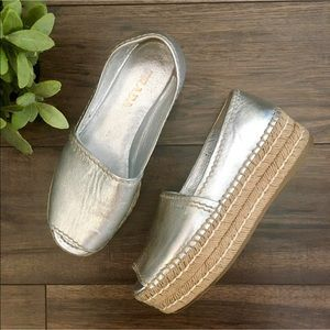 Authentic Prada Platform Espadrilles Sandals